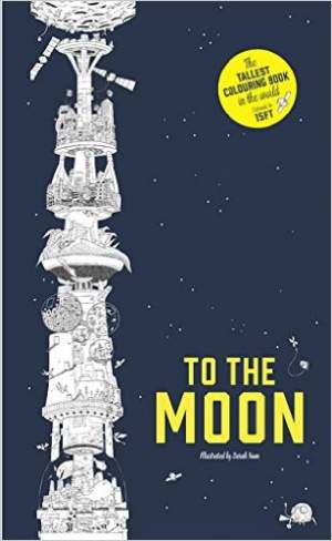 to the moon colouring book | sci-fi-london
