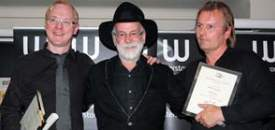 Terry Pratchett with Michael Logan and David Logan